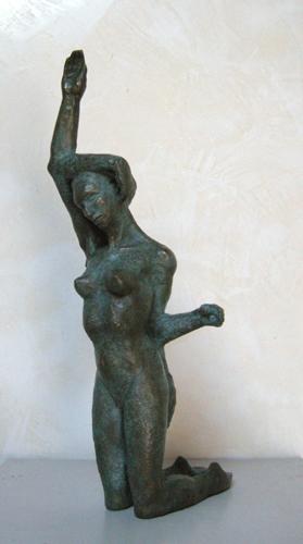 femme enchevêtrée 1/8 Ht 42 cm