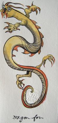 Dragon fou (Encre/papier Japon 10 X 20,5 cm)
