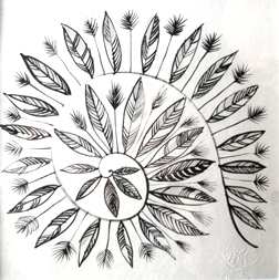 Cosmogonie. encre sur papier Japon Ht 20 X 20 cm