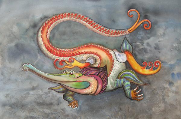 dragon d'eau encres