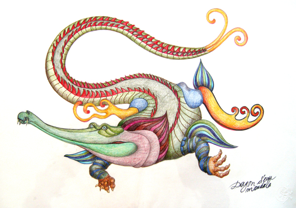 dragon d'eau mandala