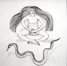 Eros hara. encre sur papier Japon Ht 20 X 20 cm