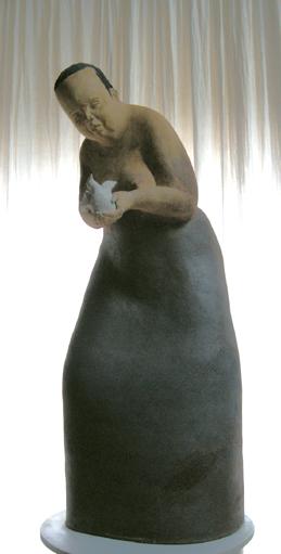 Anna-Marie //grande//(ht 102 cm X 46 X 35 céramique)